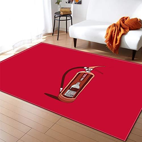 kinntn tapijten 3D Scandinavische stijl groot formaat antislip wasbaar slijtvast dikte ongeveer 7mm tapijt brandblusser Geschikt voor woonkamer slaapkamer keuken Aisle Study etc