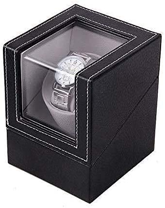 LLSS Enrollador automático de Relojes Elegante Caja de Almacenamiento de Reloj Giratorio de Almacenamiento para hasta Relojes automáticos Caja de Almacenamiento Caja de almace