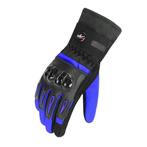 Bruce Dillon - Guantes de moto para hombre de invierno, cortavientos y fríos, guantes táctiles de pantalla táctil, guantes de moto - impermeables XL