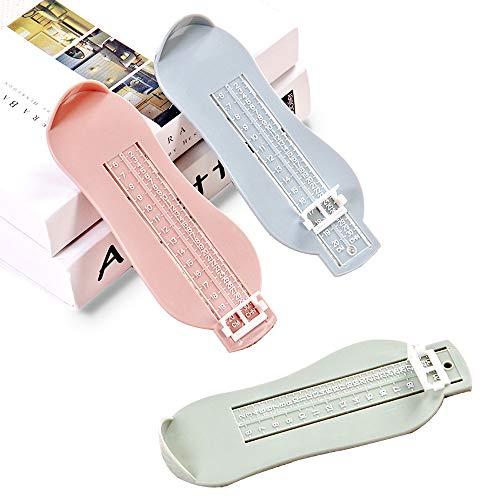 Shuny 3 Stück Fußmessgerät, 0-8 Jahre alt Fußmessgerät Schuhgrößen Messgerät zum ermitteln von Schuhgrößen Kinder, 3 Farbe