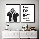 Kendrick Lamar Schwarz Weiß Poster Lyrics From Justice Hip