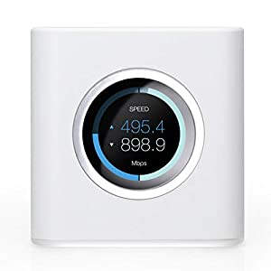 AmpliFi HD Wifi Router by Ubiquiti Labs, Seamless Whole Home Wireless Internet Coverage, HD Wifi Router with Touchscreen Display, 4 Gigabit Ethernet, 1 WAN Port, Ethernet Cable, Expandable Mesh System
