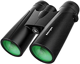 12x42 Binoculars for Adults with 18mm Large View Eyepiece & Clear Low Light Vision - Lightweight Binoculars for Birds Watching Hunting Travel