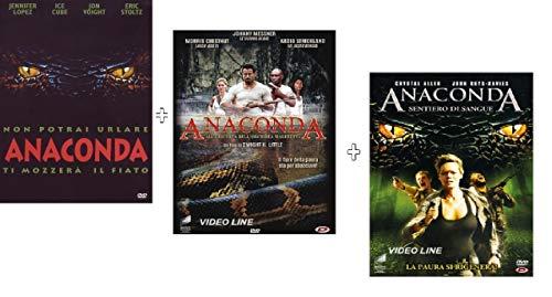 Anaconda / Anaconda Alla Ricerca DellOrchidea Maledetta + Anaconda Sentiero Di Sangue (3 Film DVD) Edizione Italiana