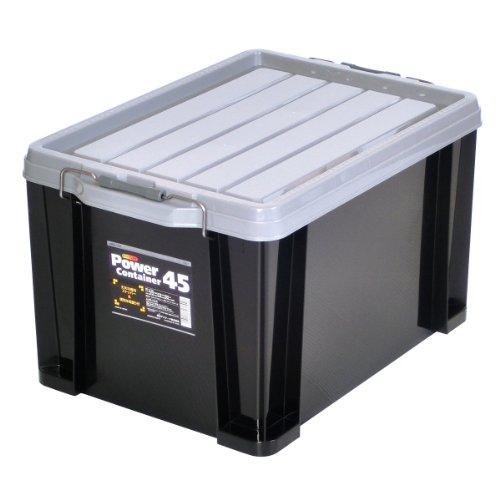 JEJアステージ 収納ボックス 日本製 パワーコンテナ #45 積み重ね [幅38×奥行54.5×高さ32cm]