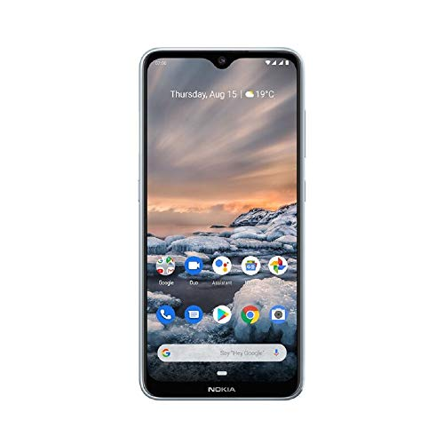 Nokia 7.2 6.3-Inch Android UK SIM-Free Smartphone with 4GB RAM and 64GB Storage (Dual Sim) – Ice