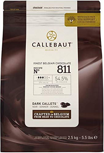 CALLEBAUT 811 und LEGENDARY - Kuvertüre Callets, Zartbitterschokolade, 54,5% Kakao, 1 x 2500 G