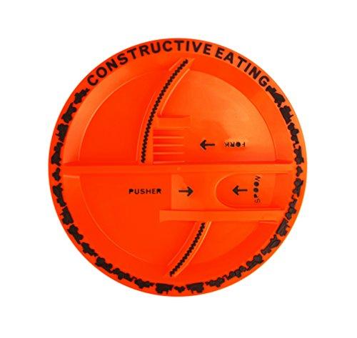 Constructive Eating WJ-660 Baustellen Teller für Kinder, Kunststoff