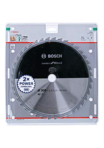 Bosch Professional 2608837741 Disco Standard for Wood, Madera, 40 Dientes, Accesorio de Sierra Circular sin Cable, 305 x 30 x 2.2 mm