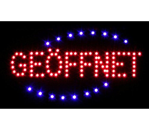 LED Schild Leuchtschild Reklame LEUCHTREKLAME Werbung versch.stylen DISPLAY SIGNS GEÖFFNET 2