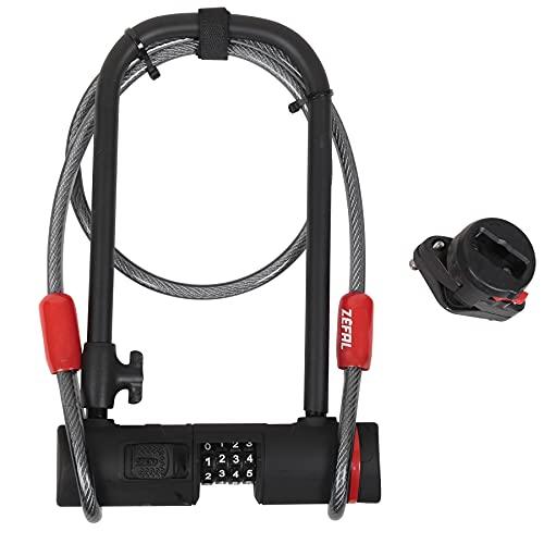 Zéfal k-traz U13antirrobo en U + Código + Cable de 120cm Unisex, Negro