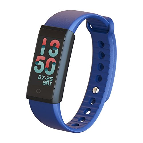 Smart Bracelet Full Color TFT LCD Screen Heart Rate Fitness Tracker Bluetooth Smart Band IP65 Waterproof Touch Screen Wristband for IOS Android (Blue)