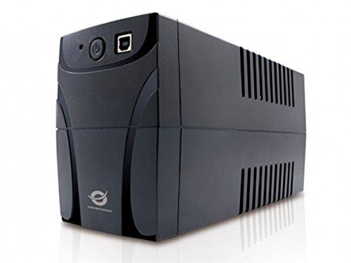 Conceptronic CUPS650 Línea interactiva 650VA 4AC outlet(s) Negro sistema de alimentación ininterrumpida (UPS) - Fuente de alimentación continua (UPS) (650 VA, 360 W, 220 V, 240 V, 50/60, C13 acoplador)