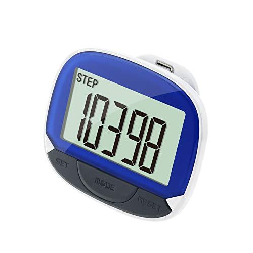 yaohuishanghang Podómetro Stepler Multi-FUNTE MULTANTE Reloj DE Pantalla DE Pantalla DE Pantalla DE TIEMPRO DE TIEMPRO rastreador de Pasos