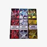 Yunoo Set de 3 Velas navideñas, Velas Decorativas, Adorno para decoración Navidad (Dorado)