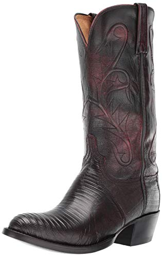 Lucchese Bootmaker Men's Benton Western Boot black cherry 8.5 2E US