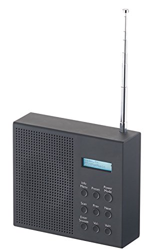 VR-Radio Outdoor Radio: Digitales DAB+/FM-Radio mit Akku, Dual-Wecker, RDS, LCD-Display, Timer (Baustellenradio)