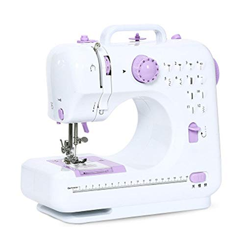 Fantastic Prices! Liweibao Portable Sewing Machine Mini with 12 Built-in Stitches 2 Speeds Double Th...