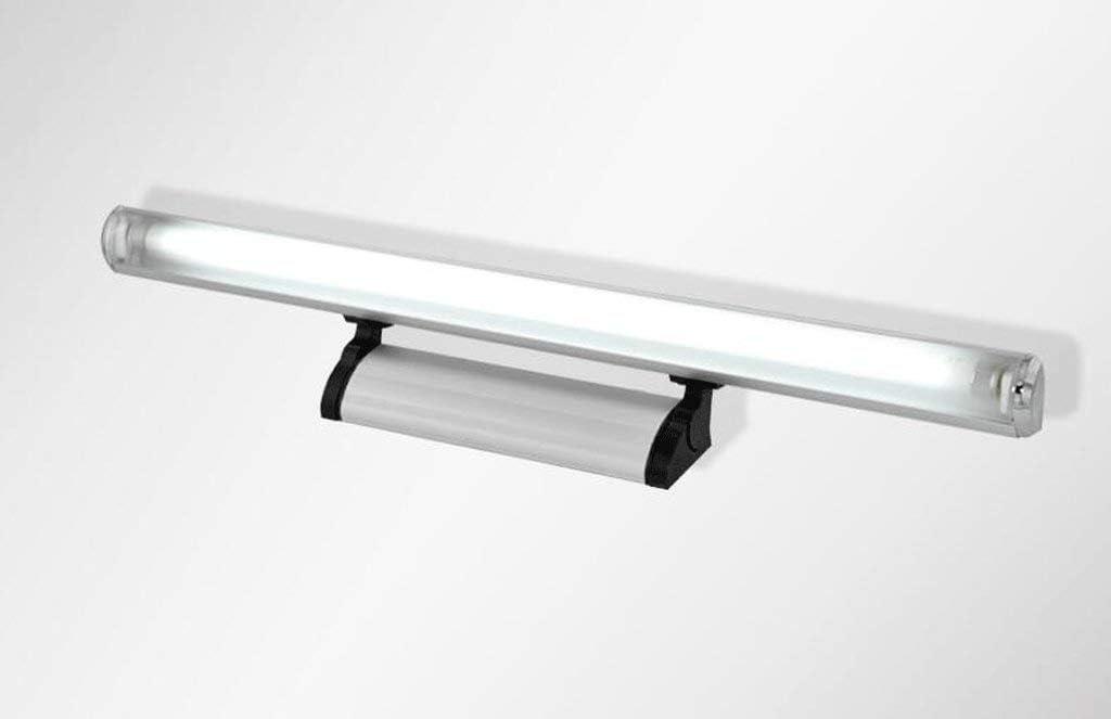 MTX Ltd Schaukel LED Spiegel Scheinwerfer Badezimmer Badezimmerspiegel Lampe Aluminium Kamm Kosmetikspiegel Schrank Bad Wandleuchte Warmes Licht-74cm