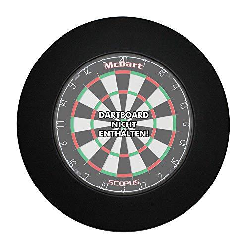 McDart Dartboard Surround - Farbe schwarz
