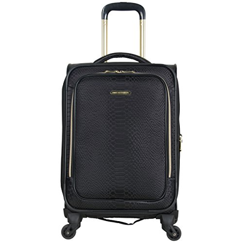 Aimee Kestenberg Women's Parker 20' Jacquard Polyester Expandable 4-Wheel Spinner Carry-on Luggage, Black