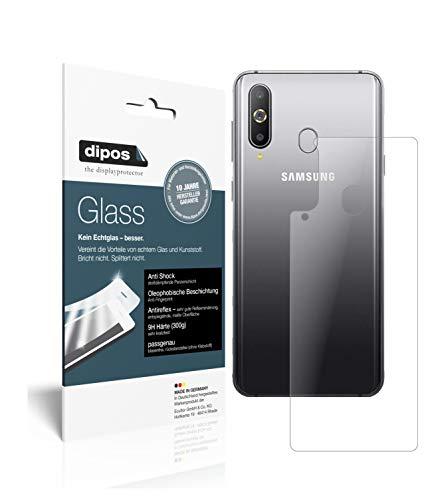 dipos I 2X Panzerfolie matt kompatibel mit Samsung Galaxy A8s Rückseite Schutzfolie 9H Bildschirmschutz-Folie (bewusst Kleiner als das Glas, da Dieses gewölbt ist)