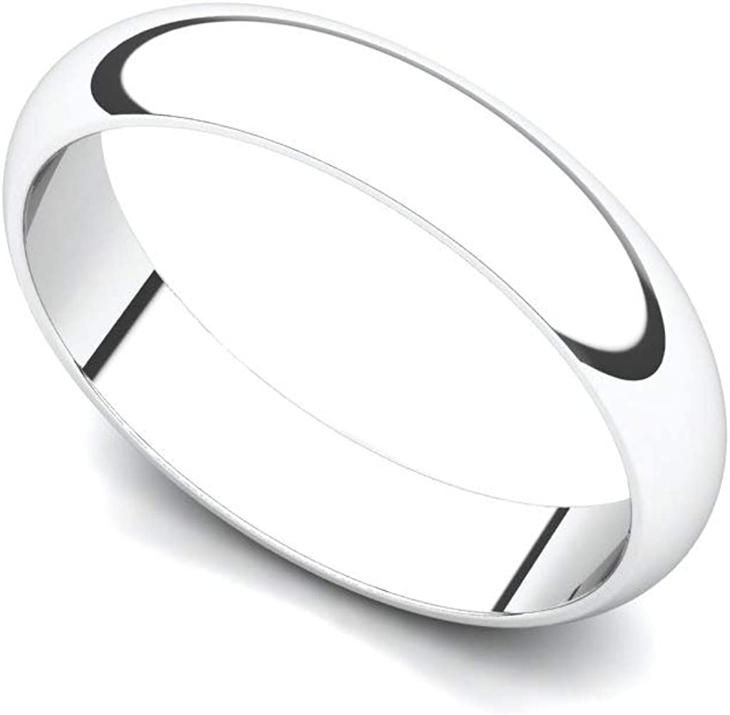 14K trust or 18K Gold 4mm Ranking TOP11 Wedding Plain Band Traditional