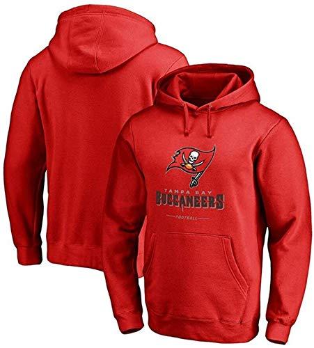Sudadera unisex de fútbol americano con capucha para hombre de primavera y otoño, con nombre del equipo y logo gráfico de camiseta (color rojo, tamaño: mediano)