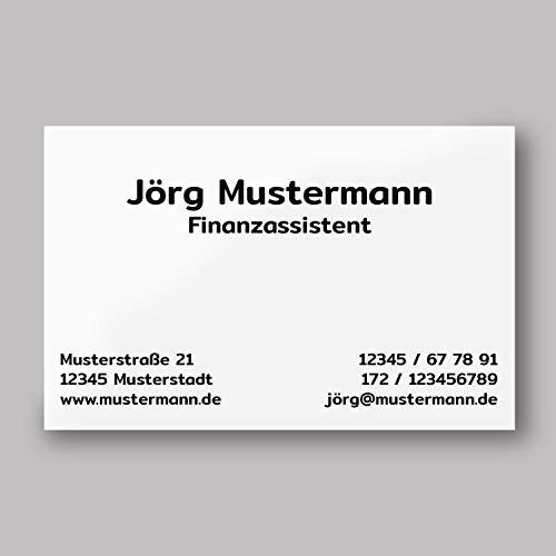 250 Visitenkarten | Klassik weiß | 350g hochwertiger Qualitätsdruck matt | 85 x 55 mm | Premium Qualität | verschiedene Motive | beschreibbar | Visitenkarte