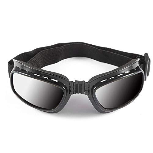 Verstelbare elastische band, opvouwbaar, vintage, motorbril, winddicht, skibril, stofbescherming voor op de weg, racebril. zwart.