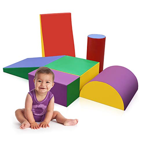 HALONA Climb & Play 6 Piece Set Indoor Play Equipment, Toddler/Baby Crawling & Climbing Toys for Playroom/Homeschool/Classroom