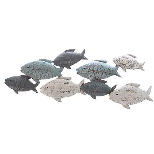 Wanddeko Fische oder Segelschiffen aus Metall L 47 cm (Fische)