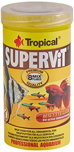 Tropical Supervit Premium - Comida para Todos los Peces Ornamentales, 1 Unidad (250 ml) 🔥