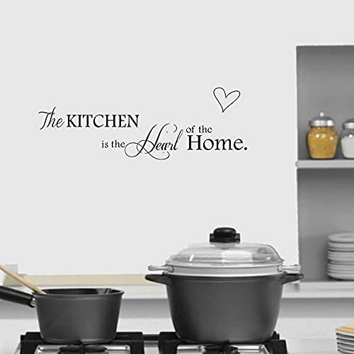 Zdklfm69 Adhesivos Pared Pegatinas de Pared Letras inglesas Vinilo de Cocina en Las Palabras de Arte Decoración de Fondo de Cocina Pegatinas Decoración del hogar 28x114cm
