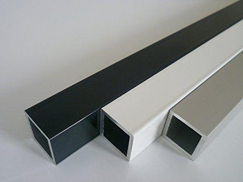 B&T Metall Aluminium Vierkantrohr pulverbeschichtet 40 x 20 x 2 mm WEISS RAL 9016 Länge ca. 2 mtr. (2000 mm +0/- 3 mm)