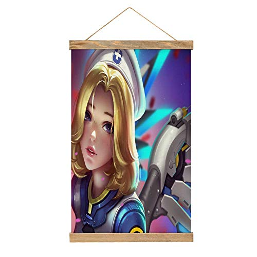 Paintings Decor Mercy Overwatch high Resolution 5k bt Canvas Prints for Home Decorations 13x20 Inch