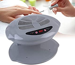 Secador de uñas de aire caliente y frío, máquina secadora de uñas portátil, herramienta de manicura de ventilador de secado de esmalte de uñas frío y caliente ajustable Lámpara de uñas profesional(F3)