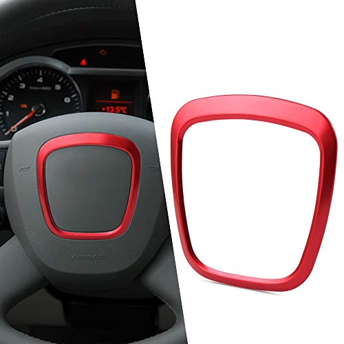 Car Steering Wheel Trim Decorative Emblem Frame Sticker Replacement Accessories For Audi A4 A5 A6 Q5 Q7