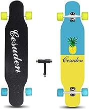 ANDRIMAX Longboard Skateboard, 41 Inch Complete Longboard Cruiser Skateboard for Adults Beginners Girls Boys Teens-Longboard Skateboards for Carving,Free-Style and Downhill