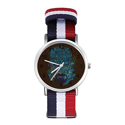Breaking Bad Blue Meth Astazing Reloj de pulsera trenzado con escala