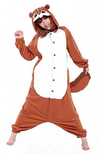 Pijamas Enteros Cosplay Adulto Ropa de Dormir Hombre Camisones Disfraces Ardilla Carnaval Ropa Pijamas de Una Pieza Mujer