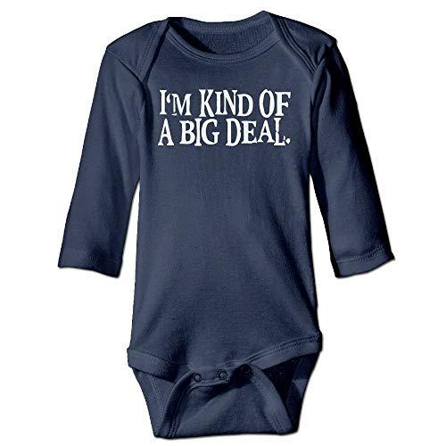 FULIYA Body de manga larga para beb con diseo de orugas, unisex, para beb, con texto en ingls 'I Am Kind of A Big Deport', traje de manga larga, color azul marino