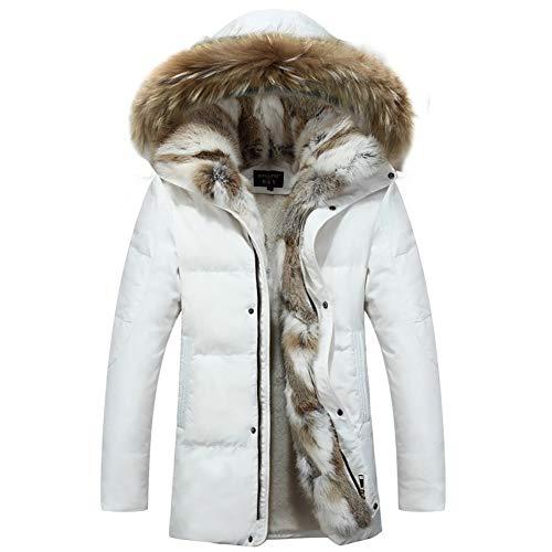 Susichou - Abrigo de plumas para hombre y mujer, talla grande, color blanco, XXXXXXXL