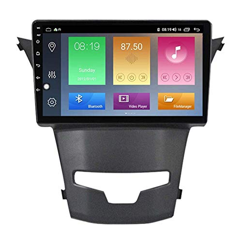 FDGBCF 9 Inch Android 10.0 Car Radio Stereo Head Unit for SsangYong Actyon, GPS Navigation/Bluetooth/FM/RDS/DSP/Steering Wheel Control/Rear Camera,4 Core-WiFi: 2+32G