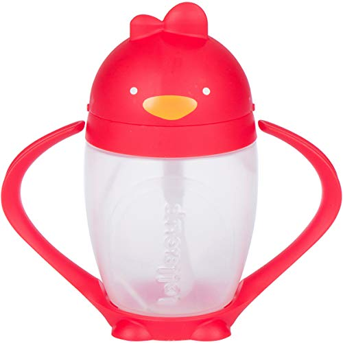 Lollaland Weighted Straw Sippy Cup for Baby: Lollacup - Transition Kids, Infant & Toddler Sippy Cup (6 months - 9 months) | Shark Tank Products | Lollacup (Bold Red)