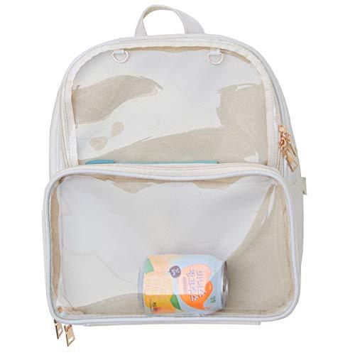 Ita Bags Zaino Ragazze Scuola Scuola Simpatico Estate Beach Bag Trasparente Finestre per Decori Fai da te, Avorio (Bianco sporco), 33 EU