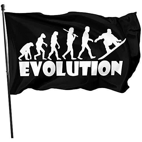 Niet van toepassing Fade Resistant Outdoor Vlaggen, Windward Vlag,Banner Breeze Vlag,Snowboard Evolution Home Vlag Tuinvlag, Polyester Vlag,3'X5'Ft