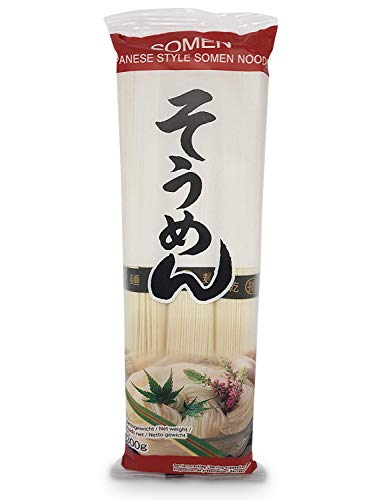 japanische Somen-Nudeln, Glasnudeln, Somennudeln, Fadennudeln aus Weizenmehl 3x 300g Weizennudeln