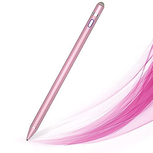 MPIO Stylus Stift, Kompatibel mit iPads/Tablets/iPhones/Samsung/Lenovo/LG/HTC,Wird zum Zeichnen & Schreiben von Touchscreen-Smartphones & -Tablets verwendet Rosa