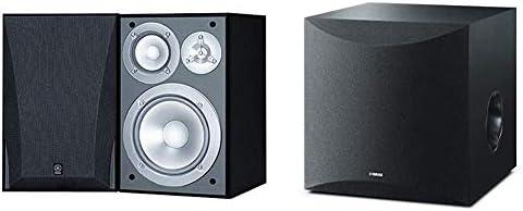 Yamaha NS 6490 3 Way Bookshelf Speakers Finish Pair Black 100W Powered Subwoofer Black NS SW100BL product image